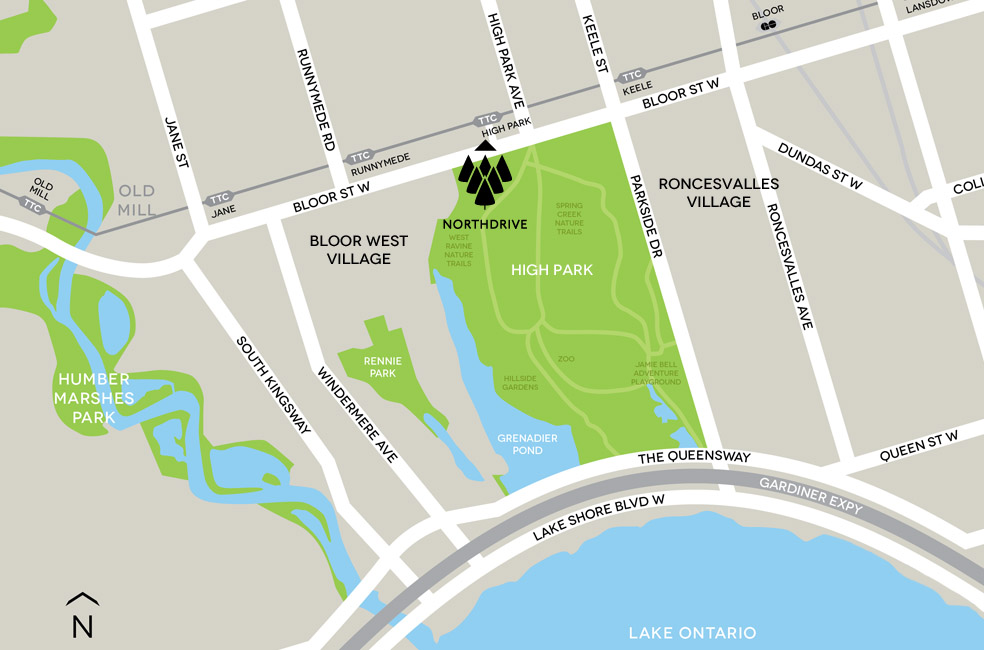 North Drive Map